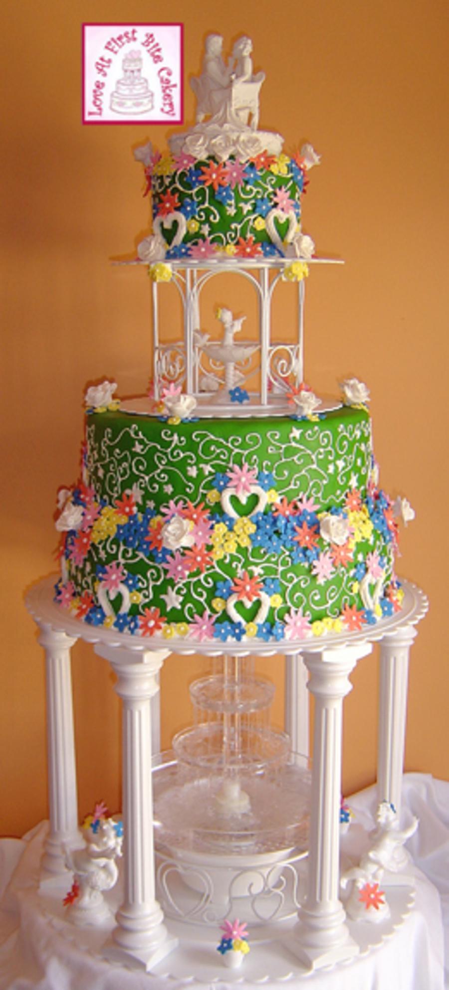 Garden Gazebo Wedding Cake