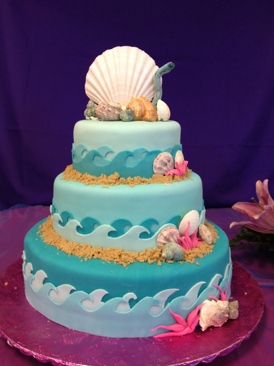 Under The Sea Quinceanera Cake Cakecentral Com