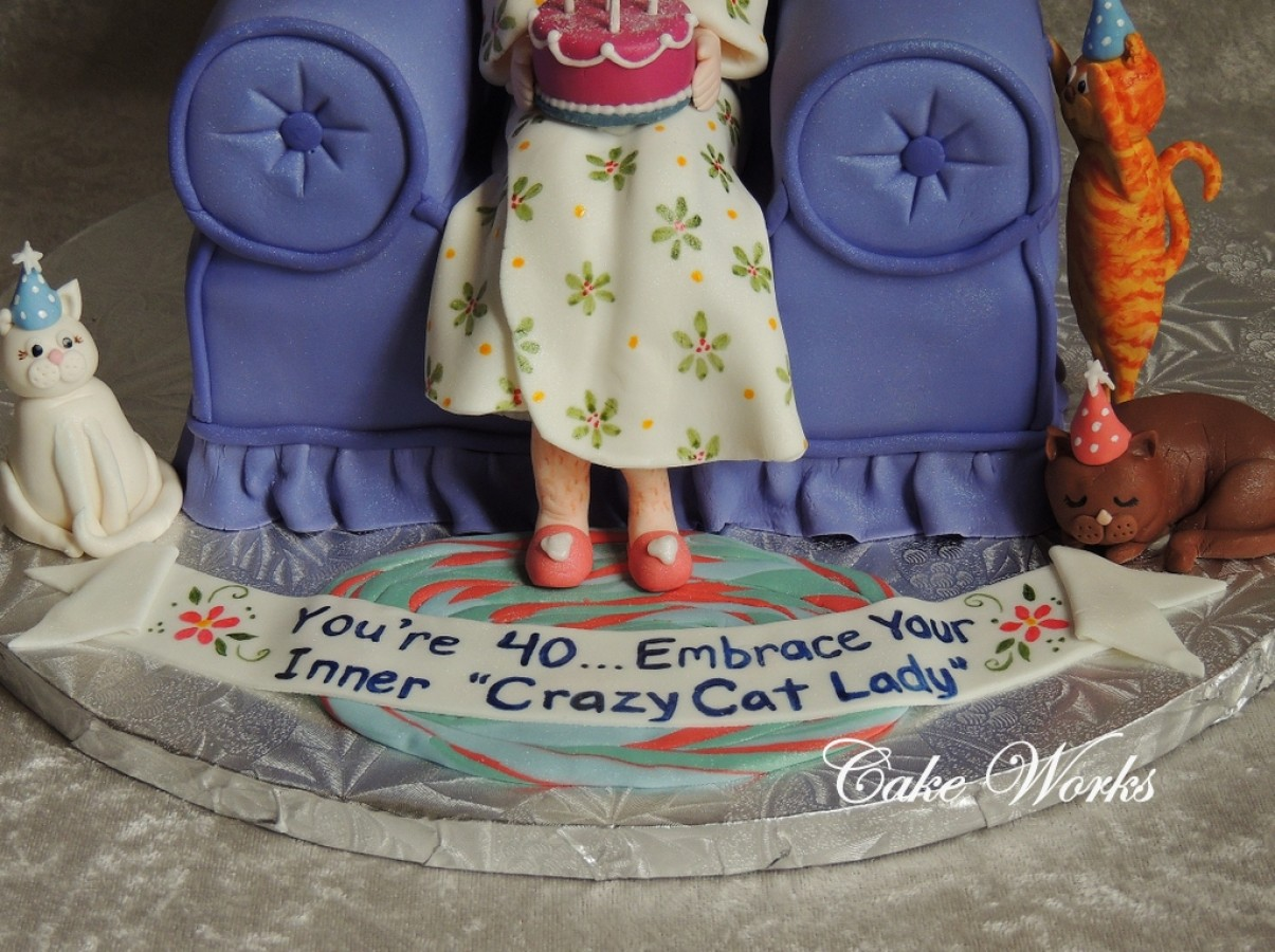 40th Birthday Crazy Cat Lady