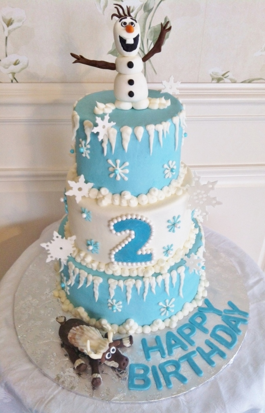 Disney S Frozen Themed Cake Cakecentral Com