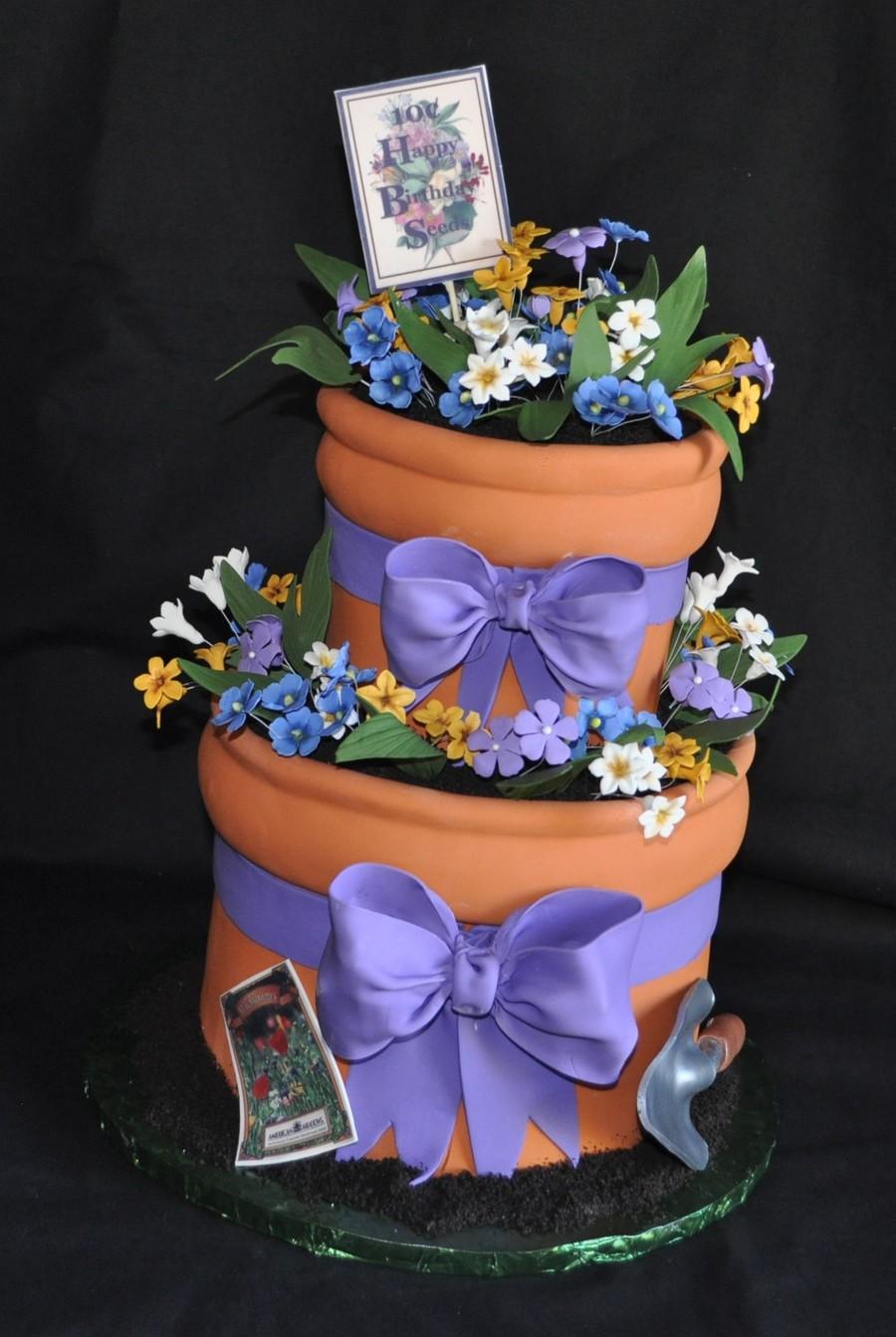 Flowerpot Cake Cakecentral Com