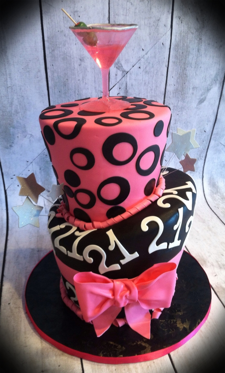 21st Martini Birthday Cake Cakecentral Com