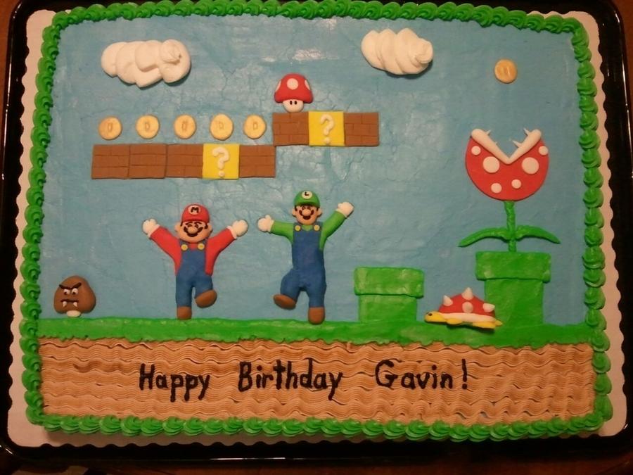 Super Mario Bros Birthday Cakecentral Com