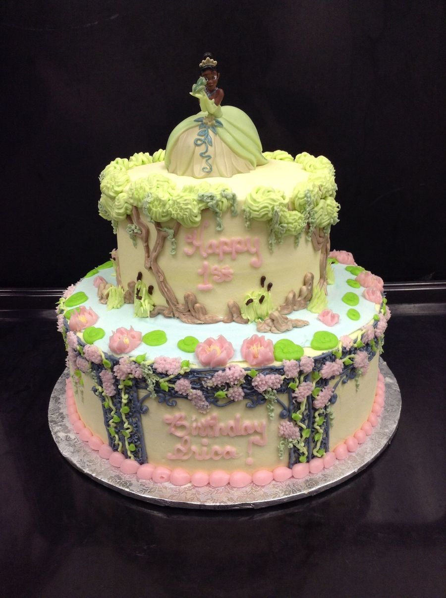 Princess Tiana And The Frog Buttercream Icing And Topper