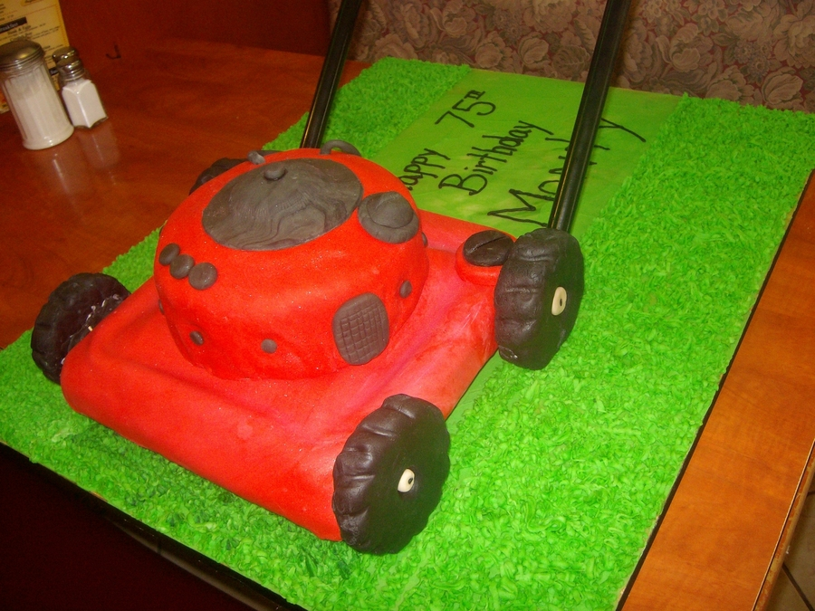 Lawn Mower Birthday Cake Cakecentral Com