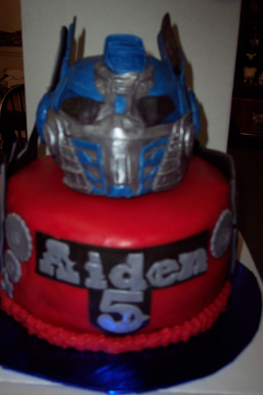 Optimus Prime Transformers Birthday Cake Cakecentral Com