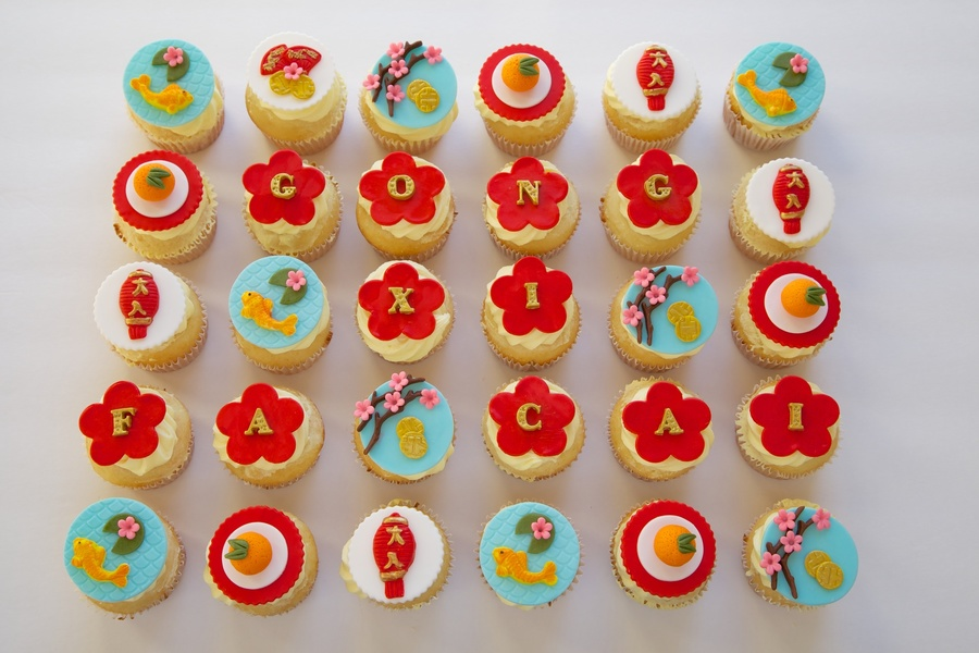 Chinese New Year Cupcakes   CakeCentral com Chinese New Year Cupcakes on Cake Central