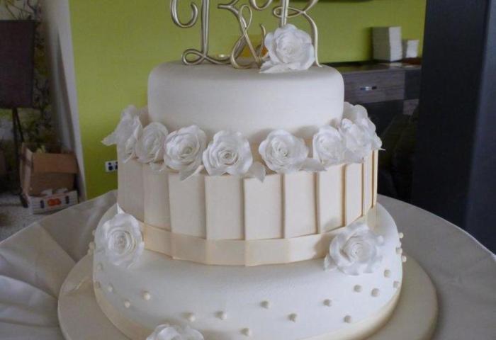 My First Wedding Cake White Ivory 3 Tier Wedding Cake With