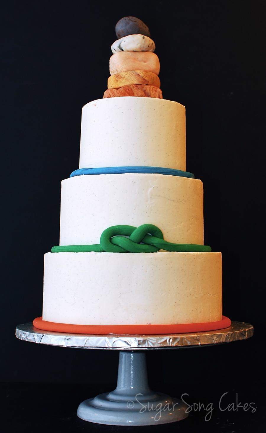 A Rock Climbers Wedding Cake