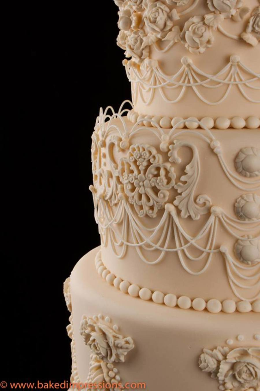 String Work Wedding Cake Cakecentral Com