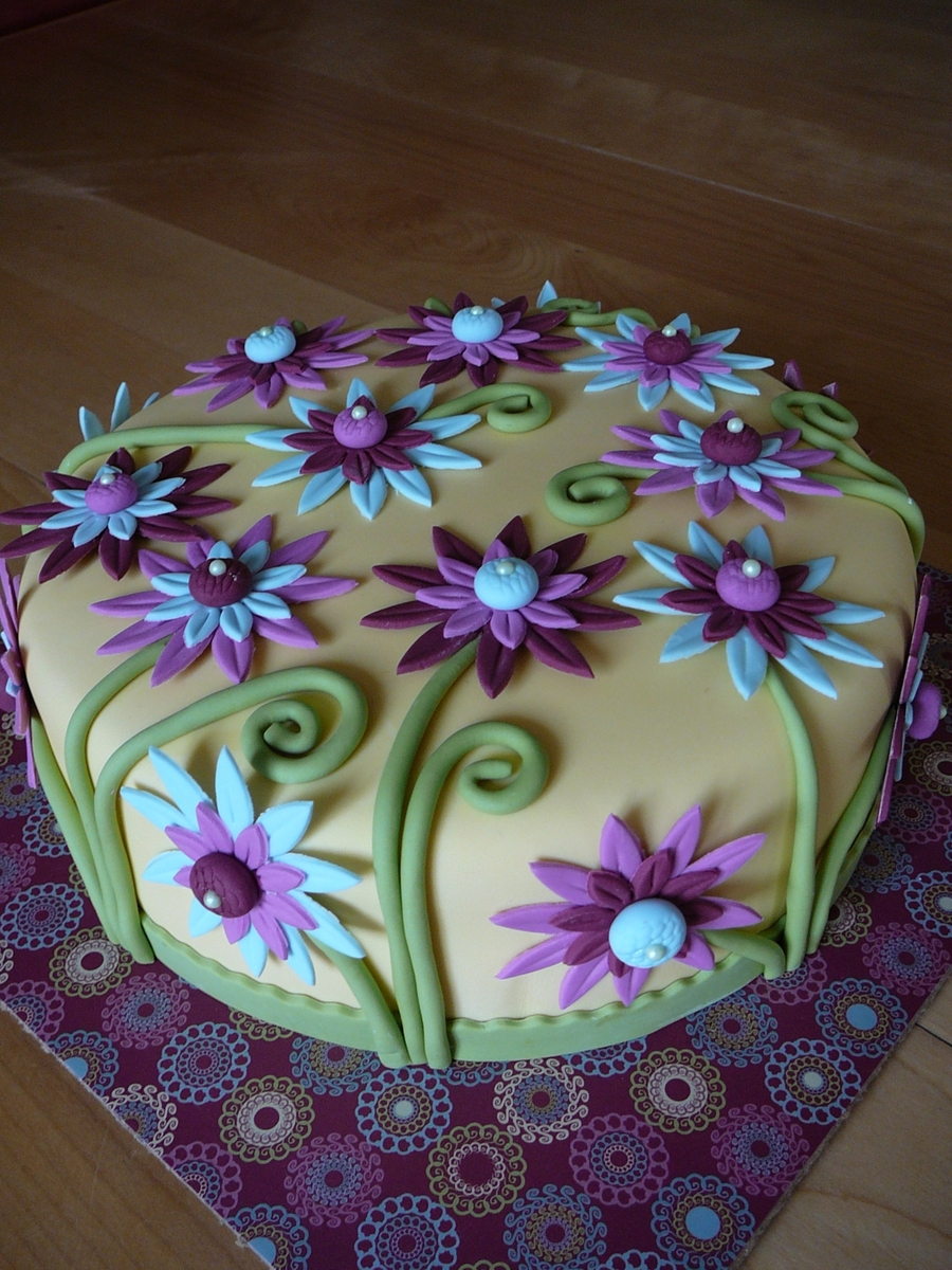 Spring Colorful Daisy Cakecentral Com