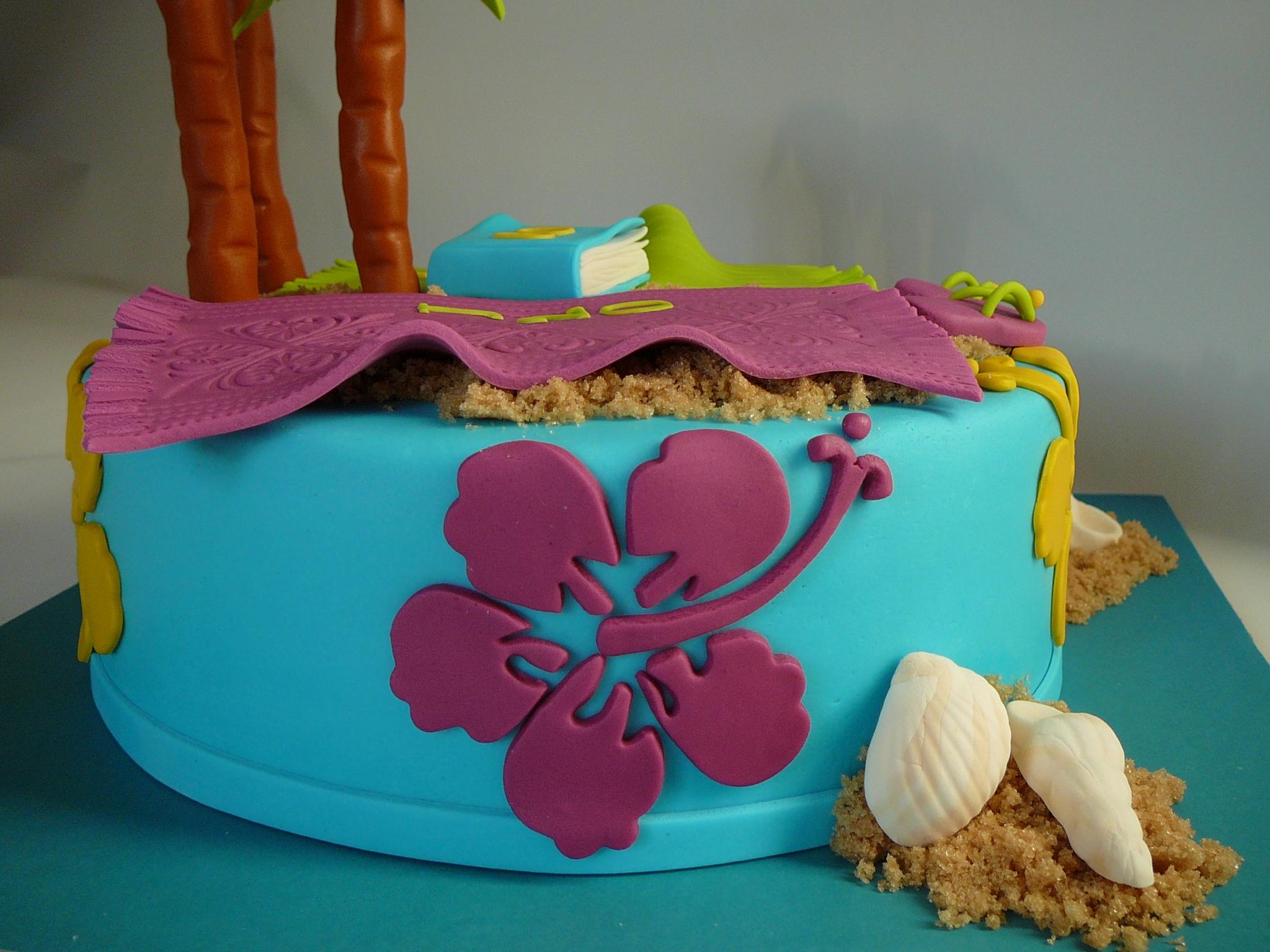 Hawaiian 20th Birthday Cake
