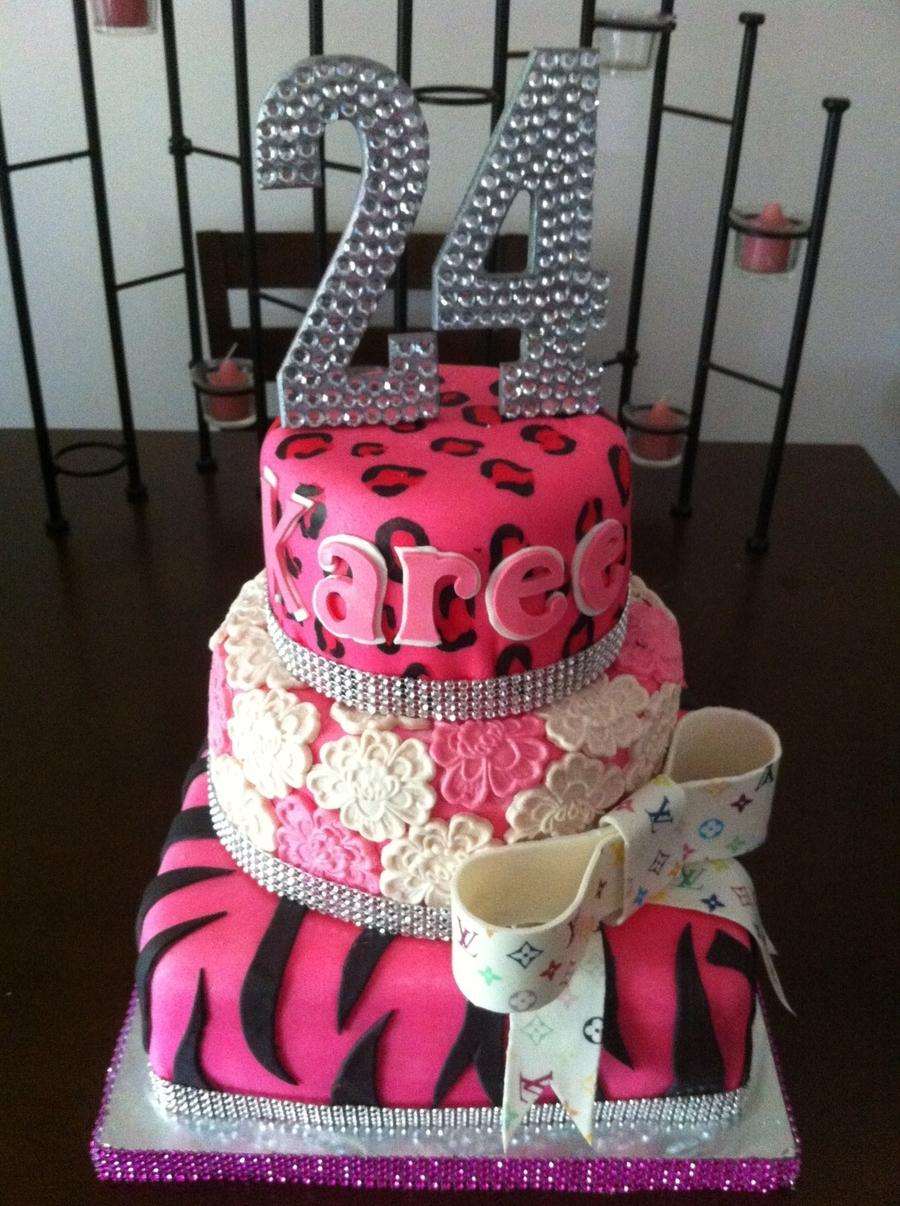 24th Diva Birthday Cake Cakecentral Com