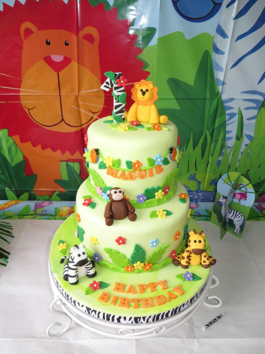 Mod Monkey Cupcake Cake