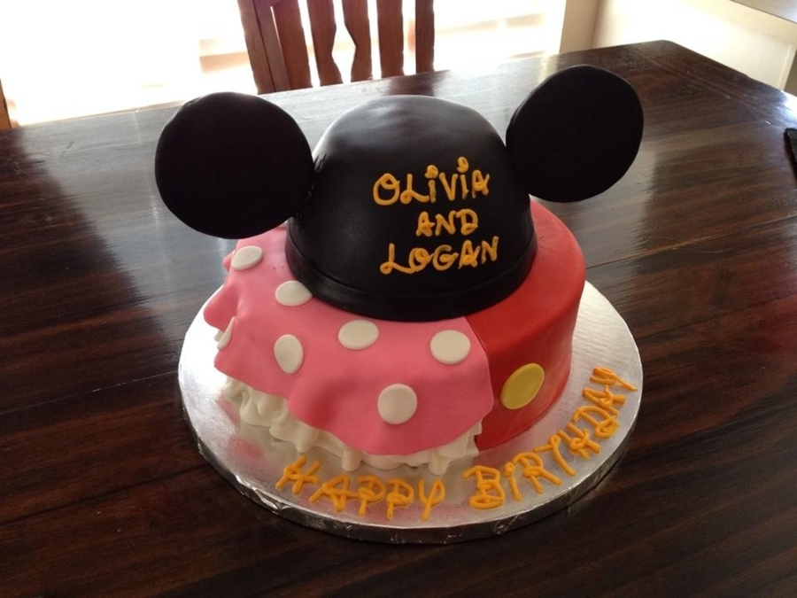 Minniemickey Birthday Cake For Brother And Sister In Between Birthday Cakecentral Com