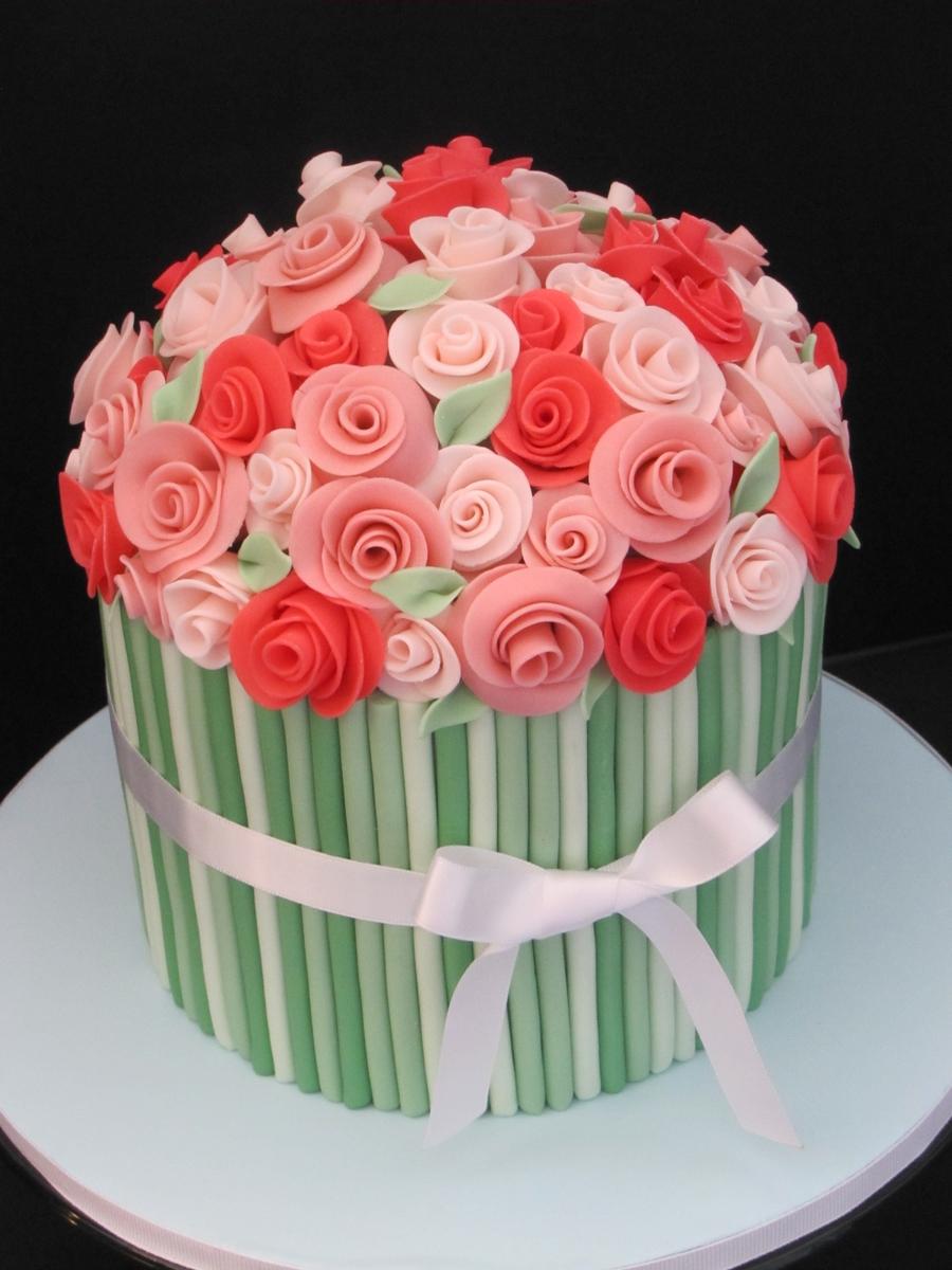 Flower Bouquet Birthday Cake Cakecentral Com