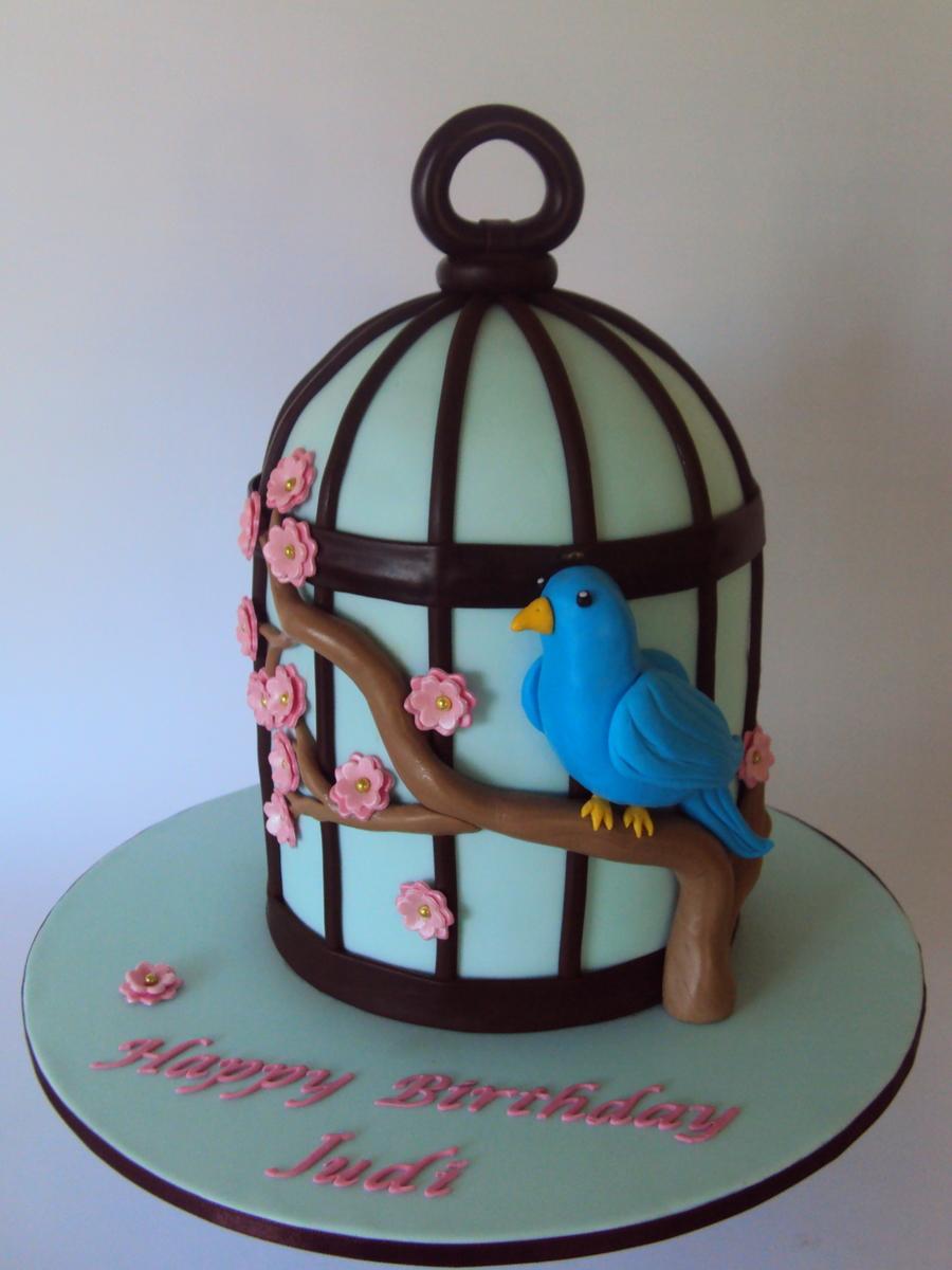 Blossom Blue Bird Cage Cake Cakecentral Com