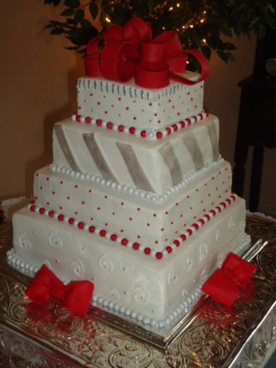 Christmas Wedding Cake Cakecentral Com