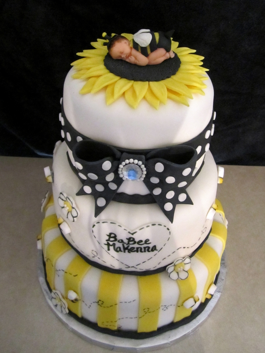 Baby Bumble Bee Shower Cake Cakecentral Com