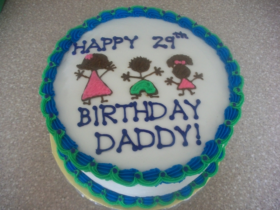 Happy Birthday To Daddy From Kids Cakecentral Com