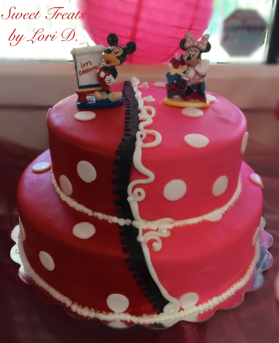 Twins Mickey And Minnie 1st Birthday Cakecentral Com