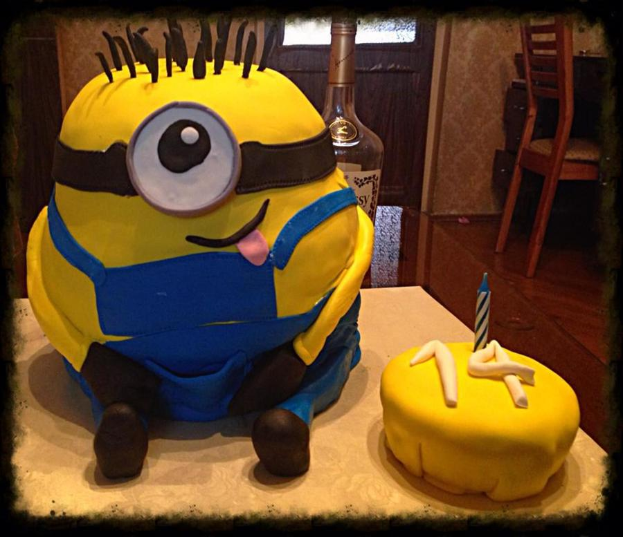 Minion Cake A For A 14 Year Olds Birthday Cakecentral Com