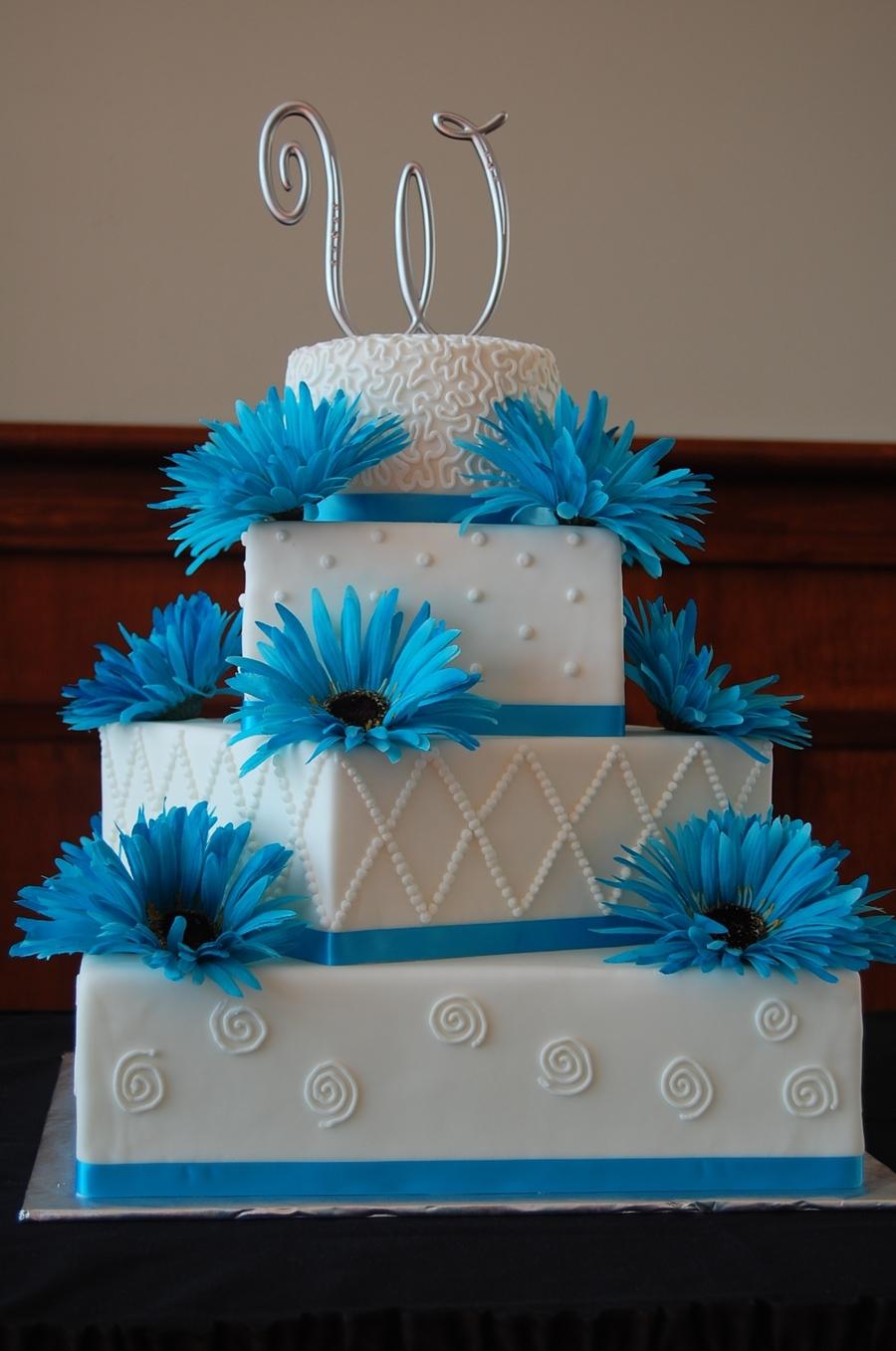 4 Tier Square Round Wedding Cake Cakecentral Com