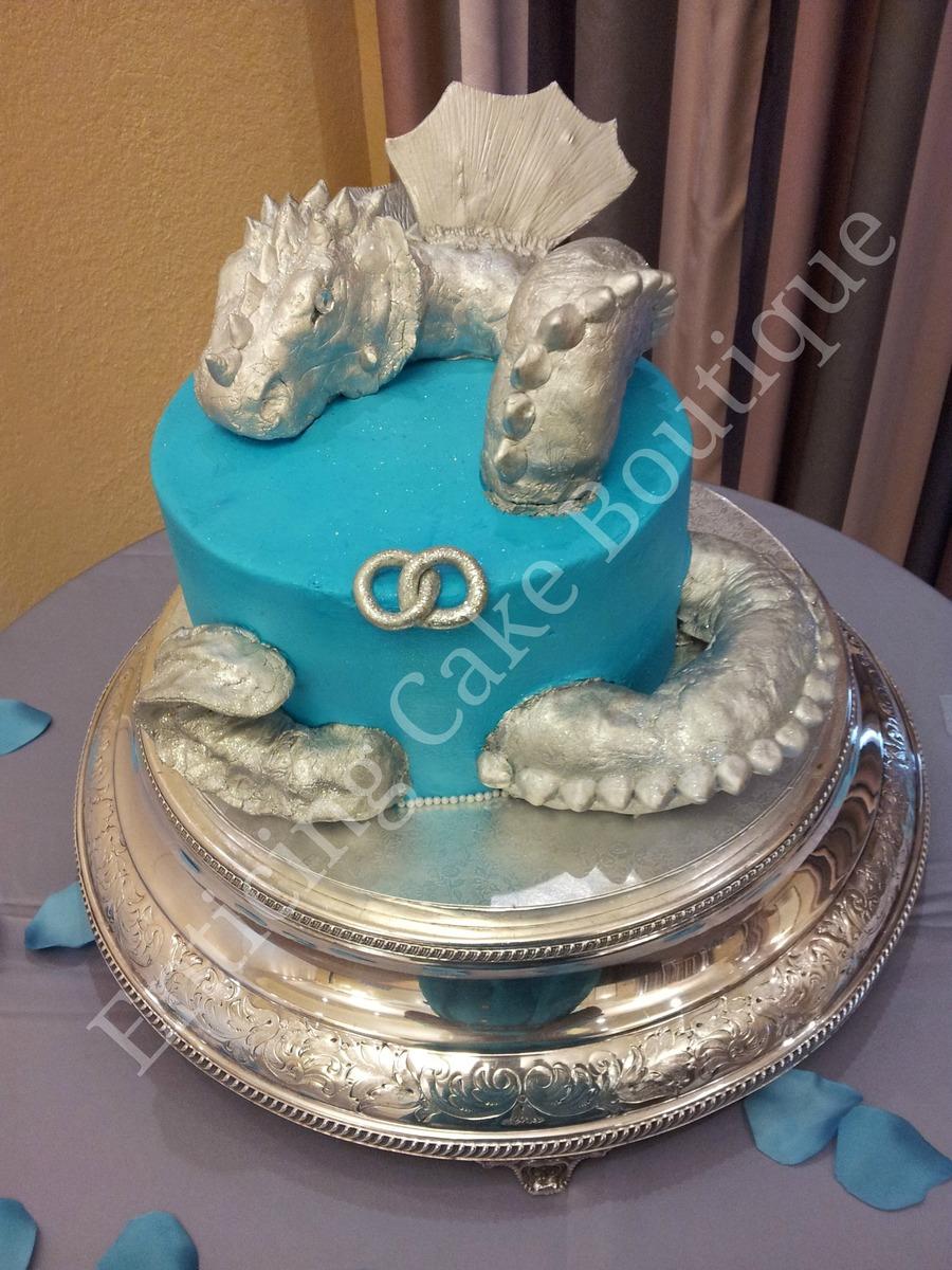 3d Dragon Fondant Buttercream Grooms Cake Cakecentral Com