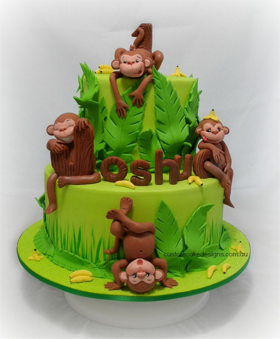 Cheeky Monkeys First Birthday Cake Cakecentral Com