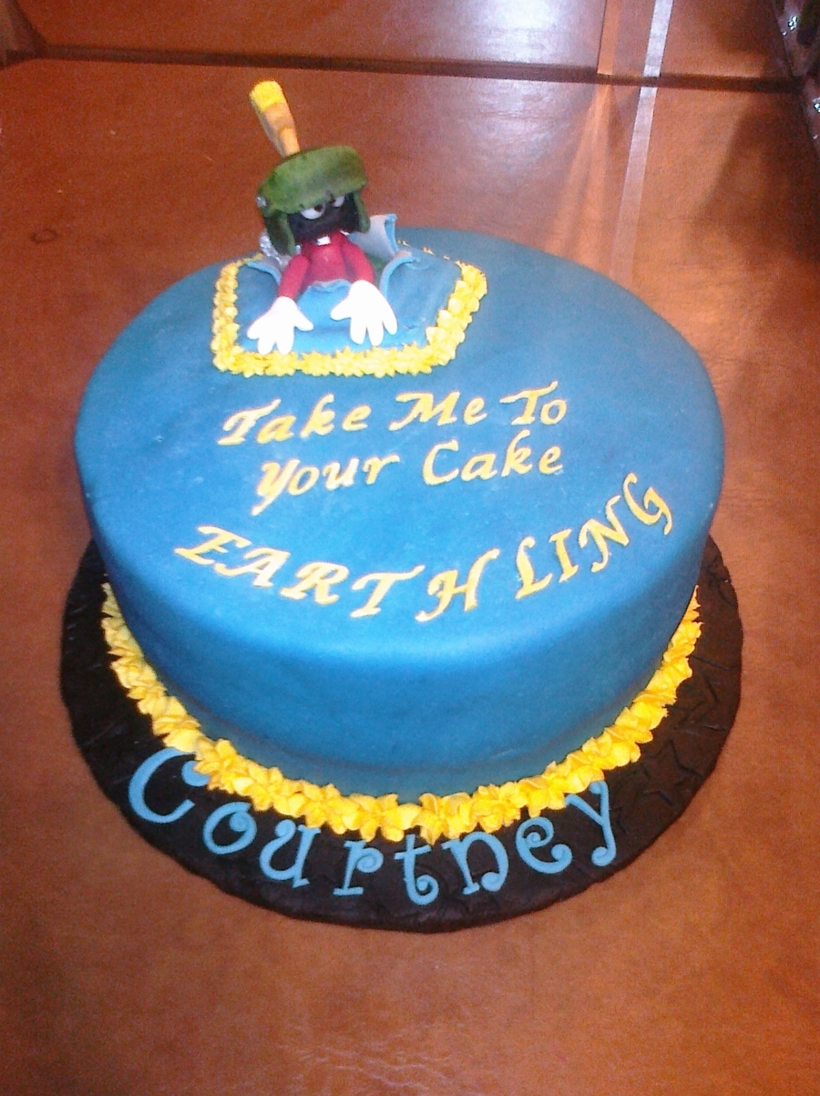 Marvin The Martian Birthday Cakecentral Com