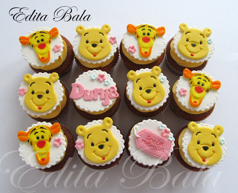 Winnie The Pooh Cupcakes For Little Dunja