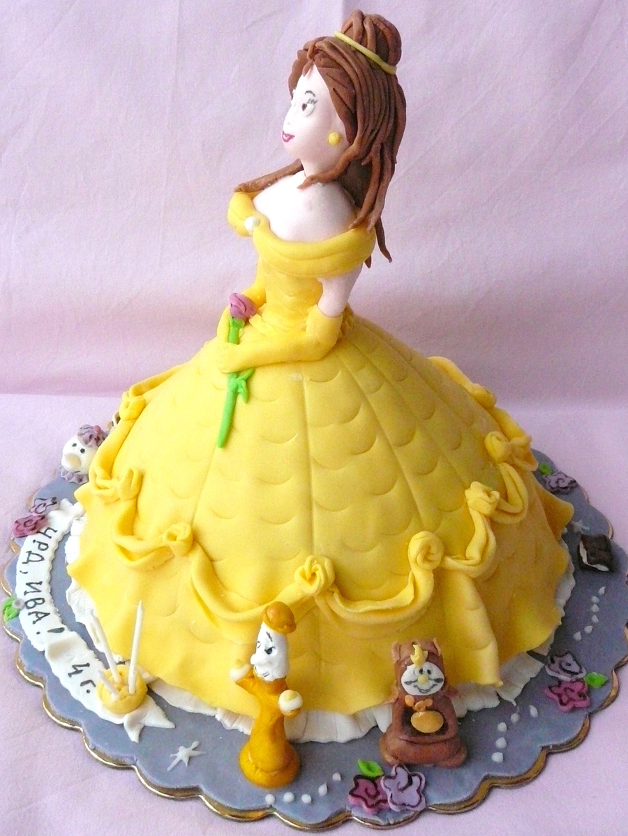 Beauty And The Beast Cake Bell Cakecentral Com