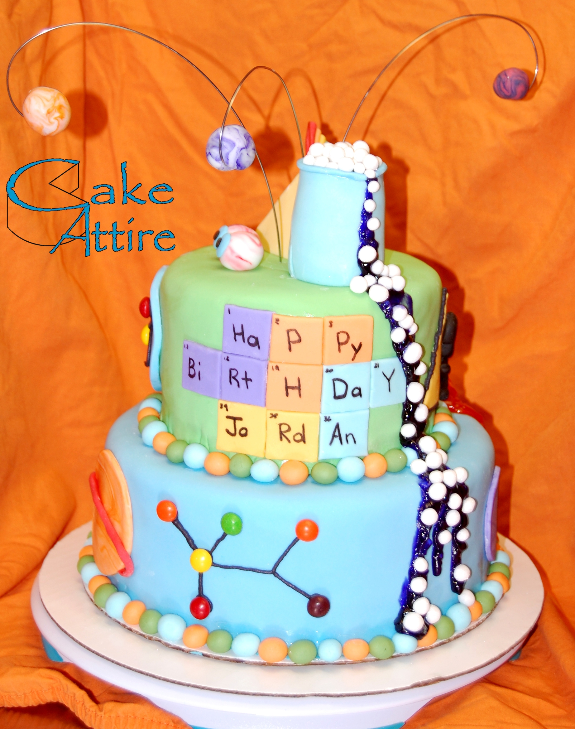 Mad Science Birthday Cake Cakecentral Com