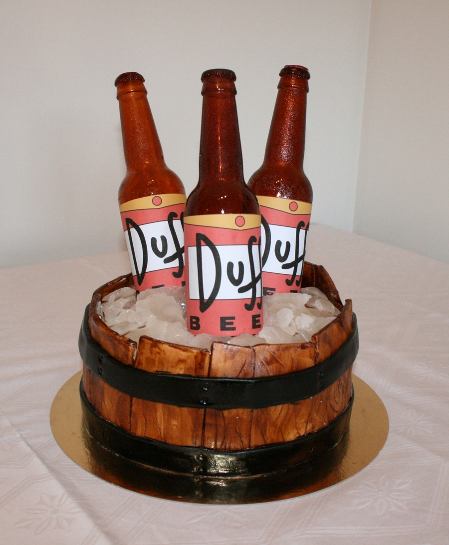 Duff Beer Cake Cakecentral Com