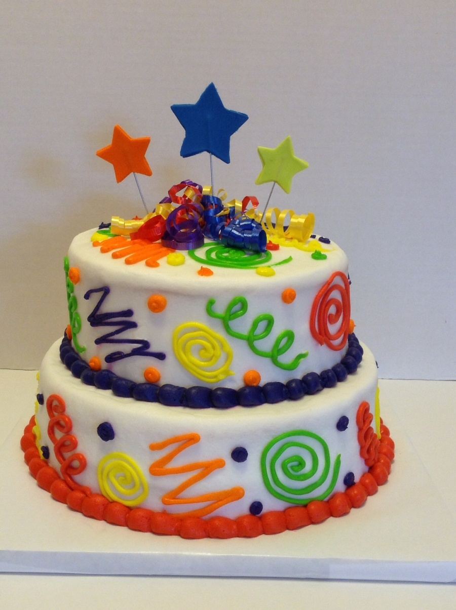 Colorful Fun Birthday Cake Cakecentral Com