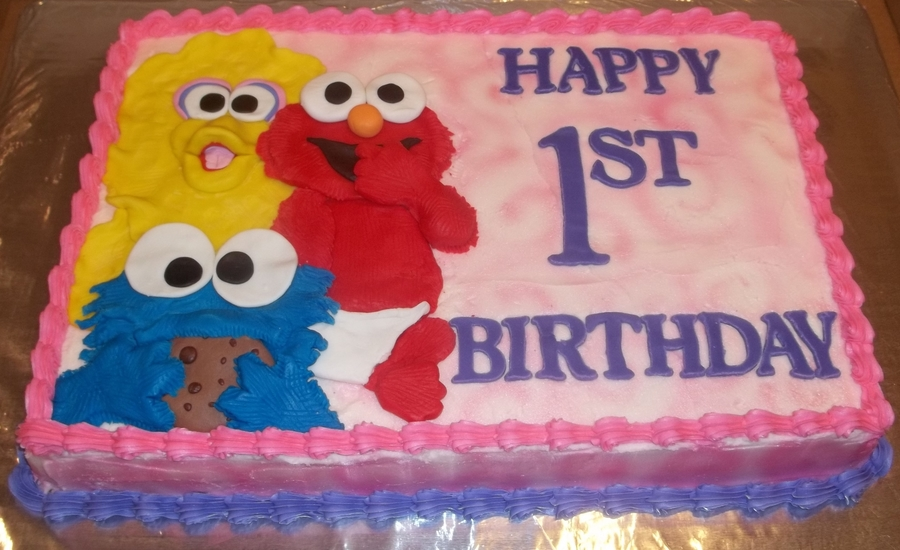 Babybsesame Street Cake Cakecentral Com