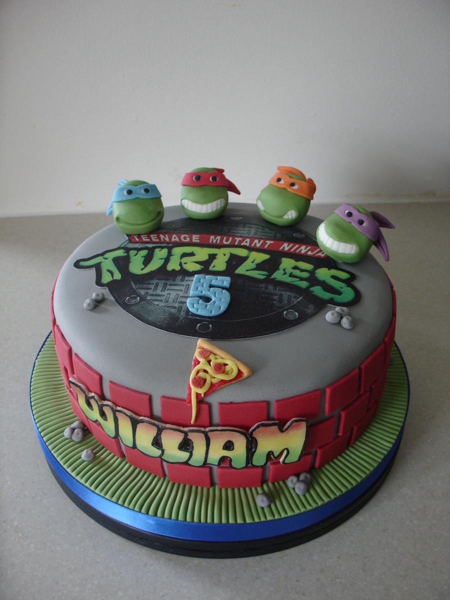 Teenage Mutant Ninja Turtles Fondant Cake Cakecentral Com