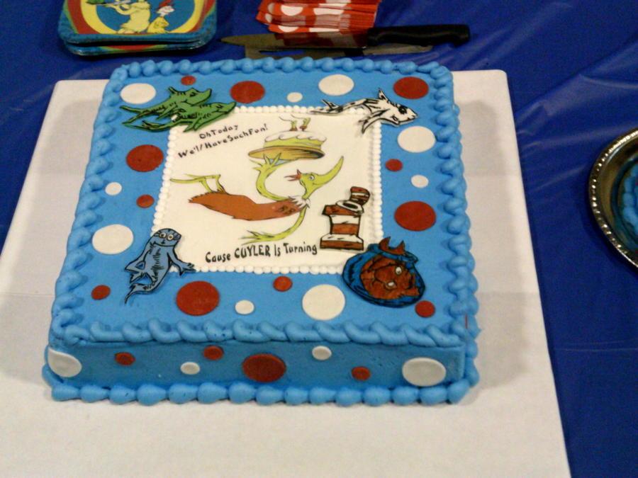 Dr Seuss 1st Birthday Cake Cakecentral Com