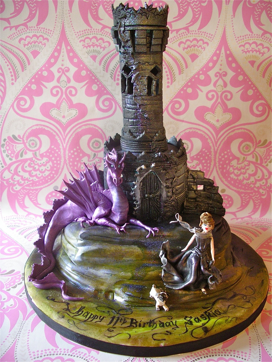 Gothic Tower Amp Dragon Cake