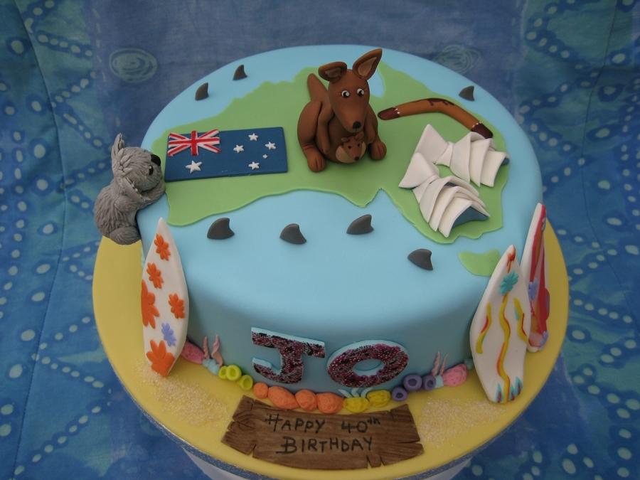 Australian Birthday Cake Cakecentral Com