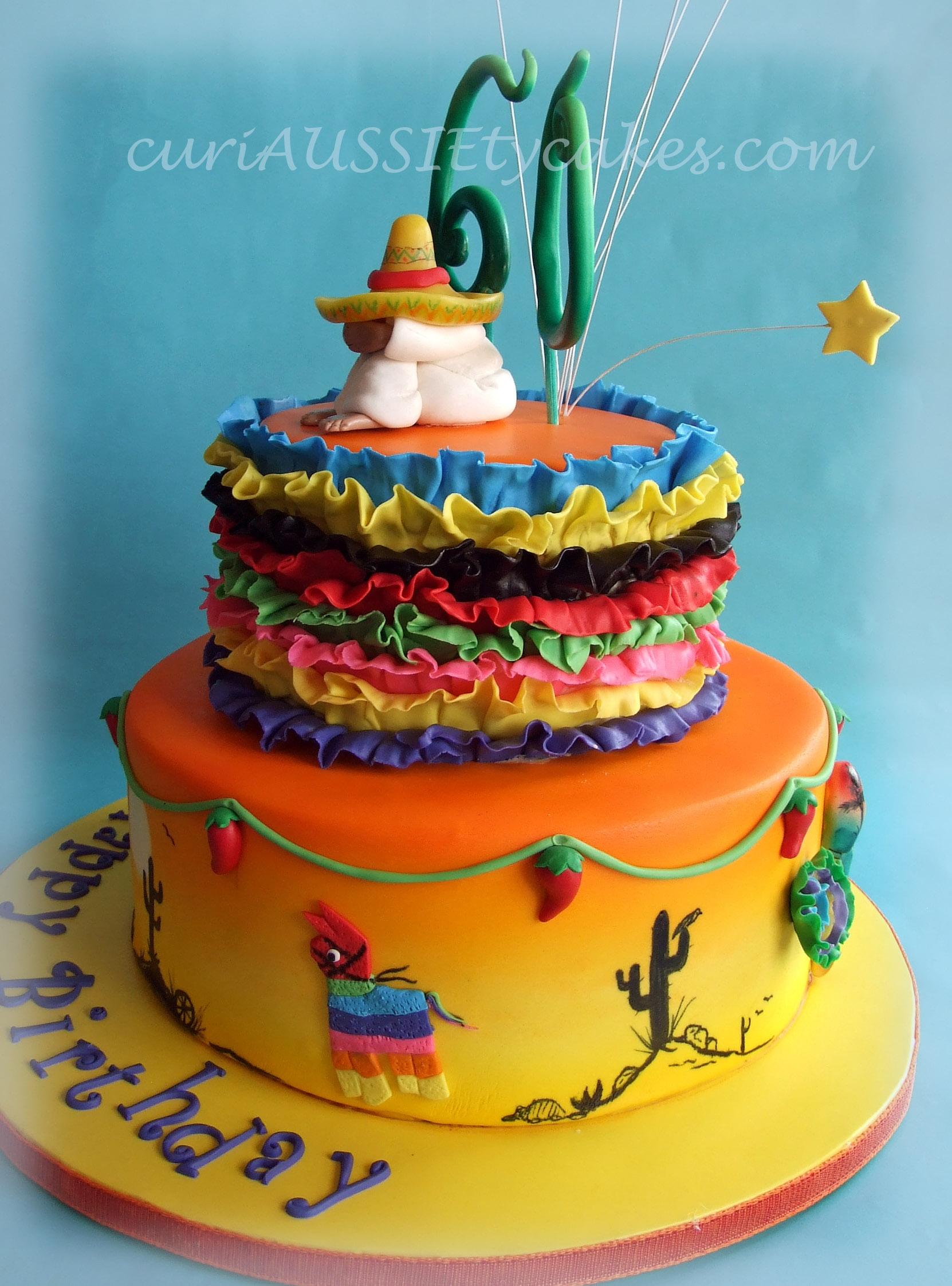 Mexico Theme 60th Birthday Cake Cakecentral Com