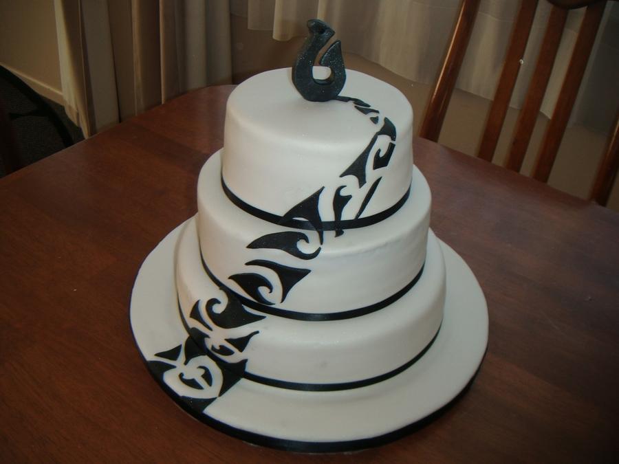 Maori Design 3 Tier Cake