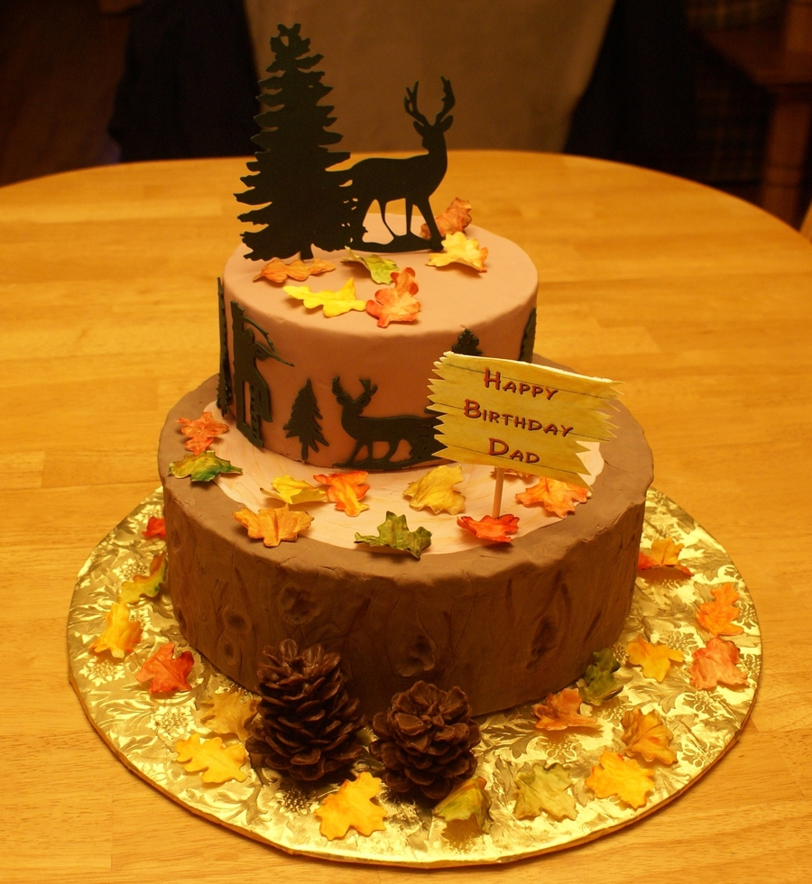 Hunting Themed Birthday Cake Cakecentral Com