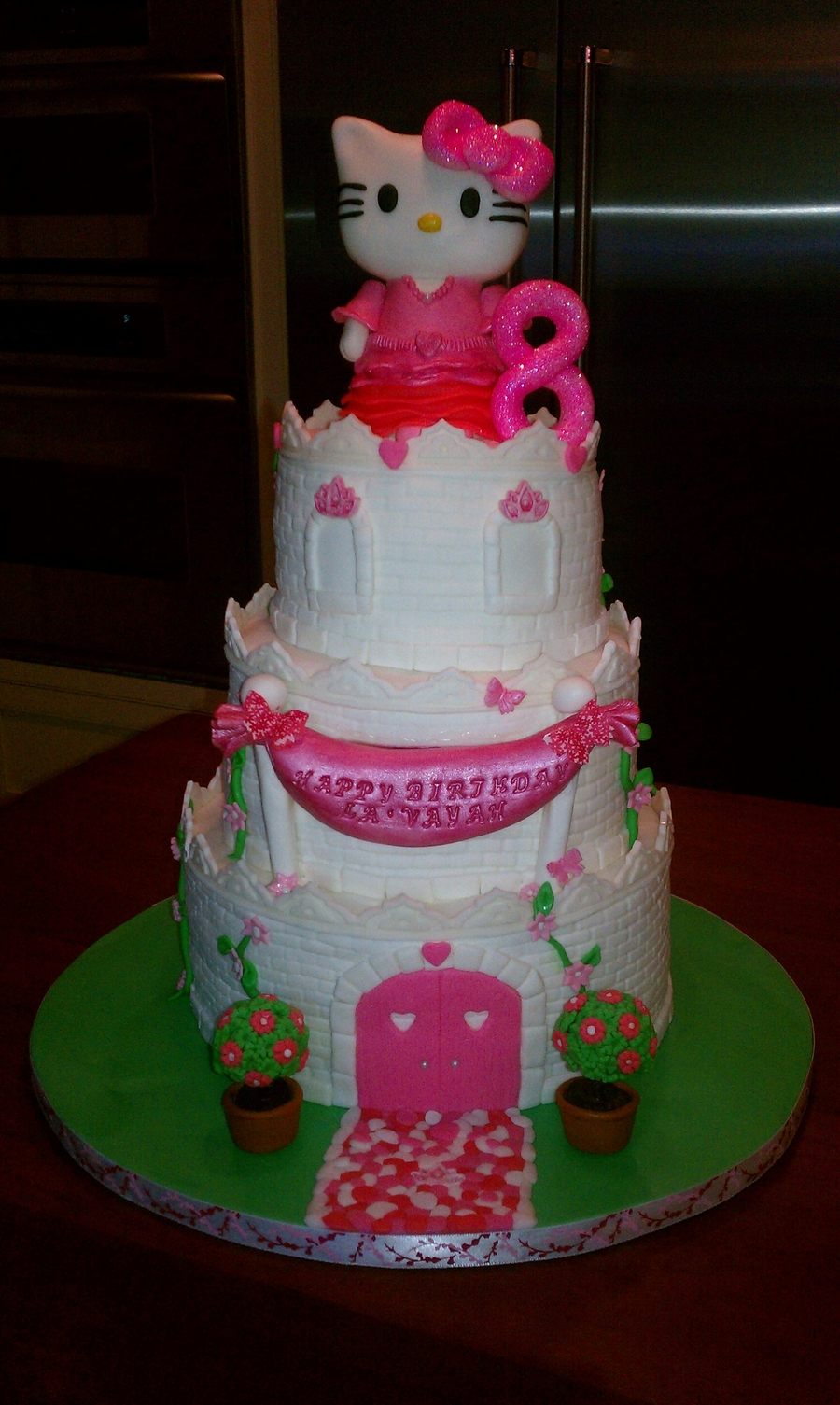 Hello Kitty Castle Cake Cakecentral Com