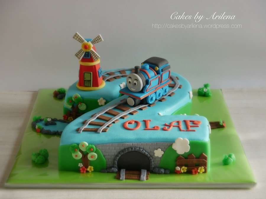Thomas The Train And Windmill Cake Cakecentral Com