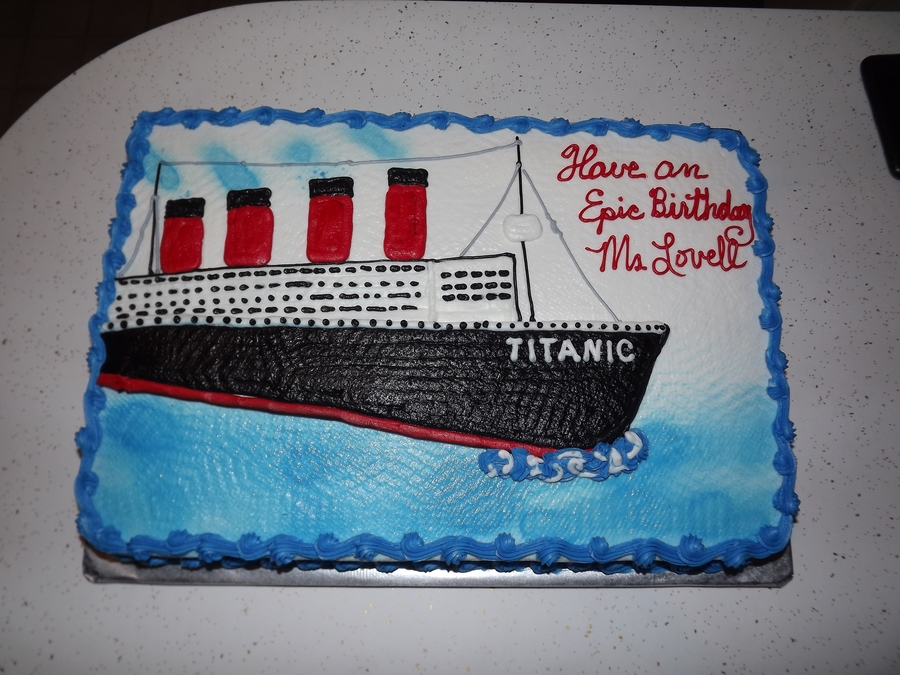 Titanic Birthday Cake Cakecentral Com