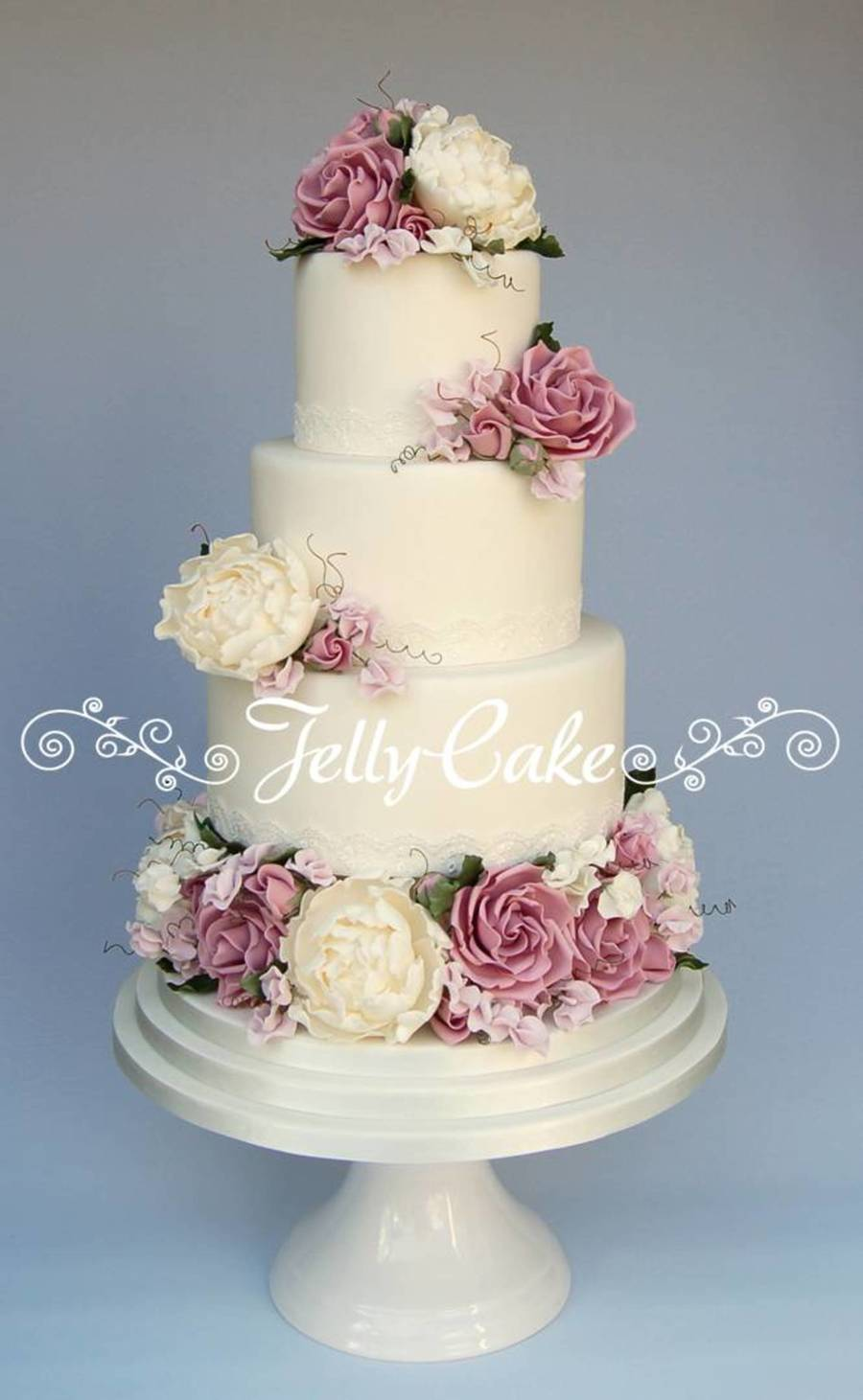 Lots Of Lovely Country Garden Blooms On This Cake Sugar