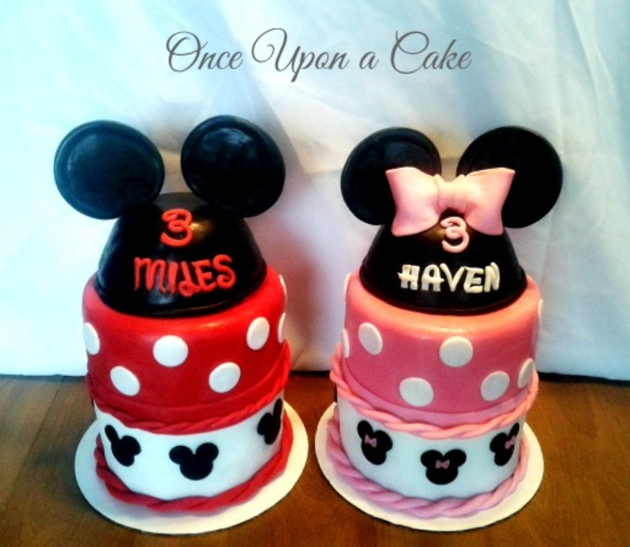 Twin Mickey Minnie Mouse Cakes Cakecentral Com