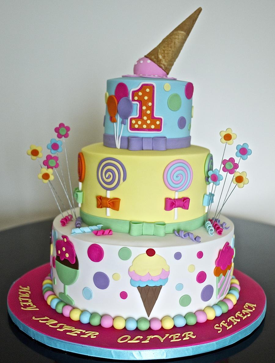 Icecream Theme Cake Cakecentral Com