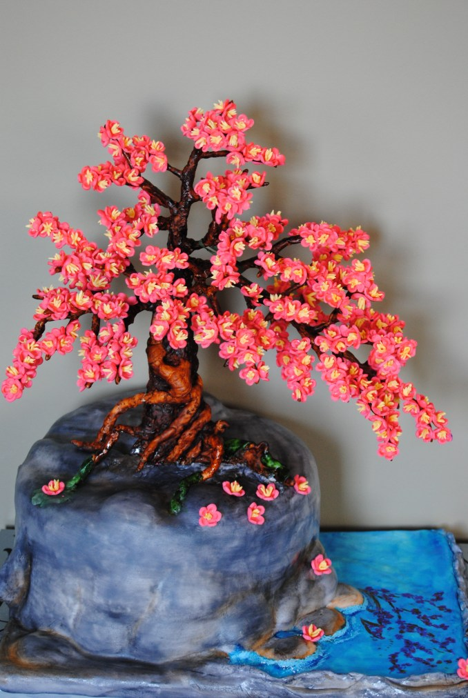 Bonsai Cherry Blossom Tree Cake - CakeCentral.com